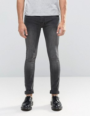 Religion Skinny Fit Hero Jeans in Black Veins