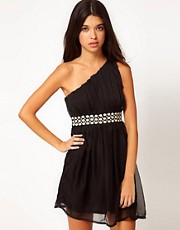 Club L Dress With Embellished Belt