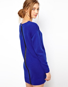 Image 1 ofASOS Zip Back Jumper Dress