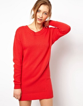 Image 2 ofASOS Zip Back Jumper Dress