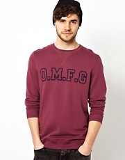 ASOS OMFG Printed Crew Neck Sweat