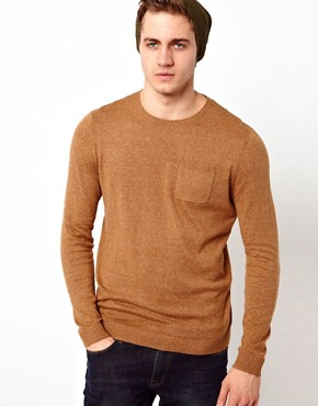 Image 1 ofASOS Crew Neck Jumper with Pocket