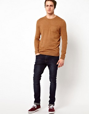 Image 4 ofASOS Crew Neck Jumper with Pocket