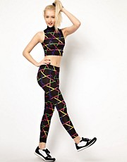 Kuccia Legging in Rave Strobe Print