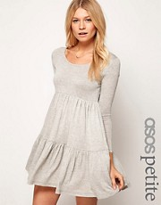 ASOS PETITE Swing Dress With Tier Detail