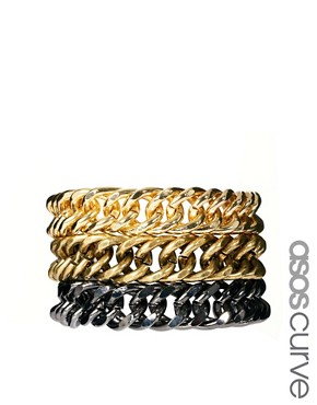 Image 1 ofASOS Pack of Three Chunky Chain Bracelets
