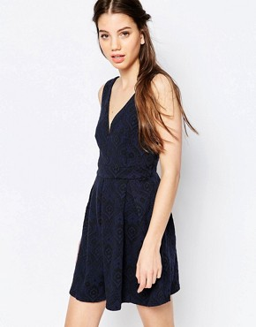 Hazel Lace Skater Dress