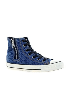 Image 1 ofConverse All Star Side Zip High Top Trainers