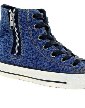 Image 2 ofConverse All Star Side Zip High Top Trainers