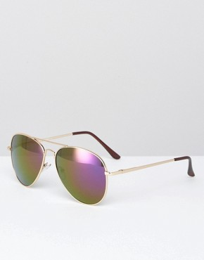 AJ Morgan Aviator in Gold with Mirror Lens
