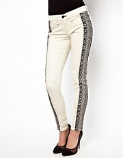 Rag &amp; Bone Spilt Skinny With Lace Embroidery