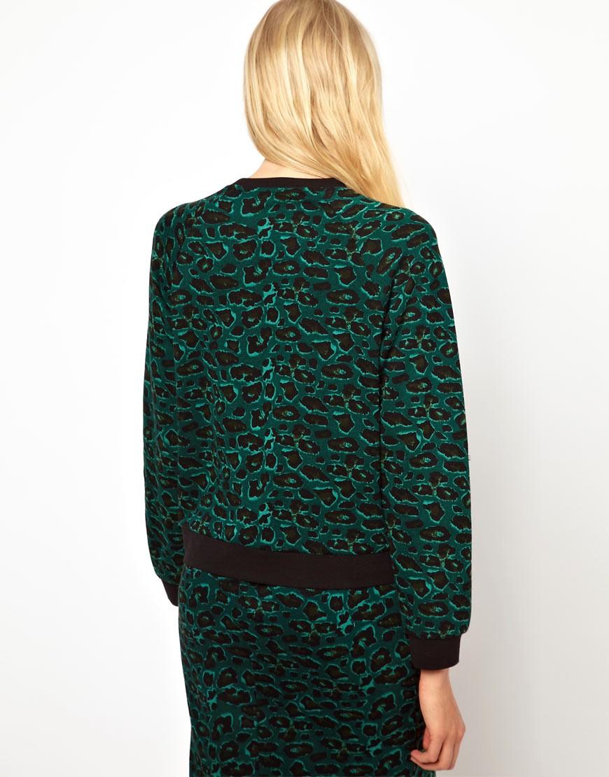 Image 2 ofBaum und Pferdgarten Jersey Sweater in Leopard Print