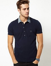 Diesel - T-Whiskey -  Polo con colletto di jeans