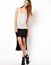 Factory By Erik Hart Jersey Twist Hi Lo Skirt