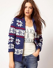 Franklin &amp; Marshall Fairisle Knitted Cardigan