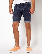 ASOS  Jeansshorts in Acid-Waschung