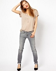 7 For All Mankind Olivya Super Skinny Low Rise Jeans