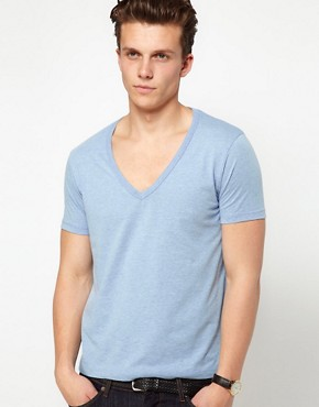 Image 1 ofASOS T-Shirt With Deep V Neck
