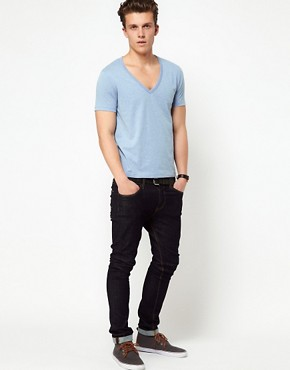 Image 4 ofASOS T-Shirt With Deep V Neck