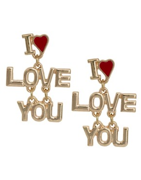 Image 1 ofASOS Love You Earrings