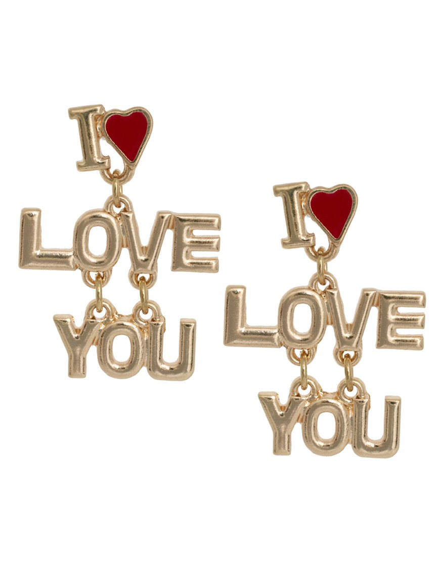 Image 1 of ASOS Love You Earrings