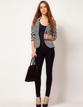 Image 4 ofA Wear Stripe Blazer