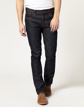 Image 1 ofNudie Grim Tim Dry Dirty Organic Straight Jean