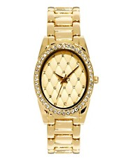 River Island Quilted Face Watch