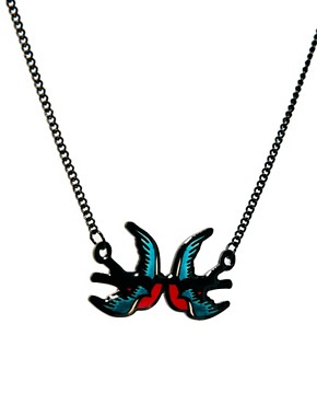 Image 4 ofTatty Devine Swallow Enamel Necklace