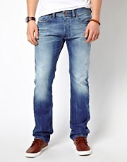 Diesel - Safado 810n - Jeans dritti blu sporco