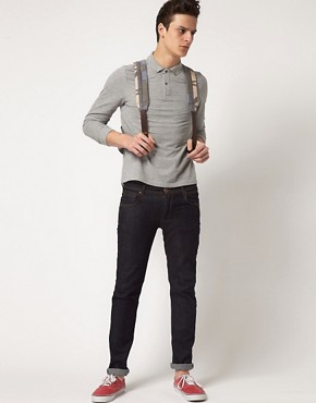 Image 4 ofASOS Polo Shirt With Long Sleeves