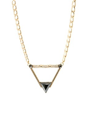 Image 1 ofASOS Stone Triangle Necklace