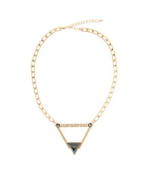 Image 2 ofASOS Stone Triangle Necklace