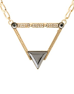 Image 4 ofASOS Stone Triangle Necklace