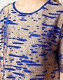 Image 3 ofASOS CURVE Tunic In Cobalt Metallic
