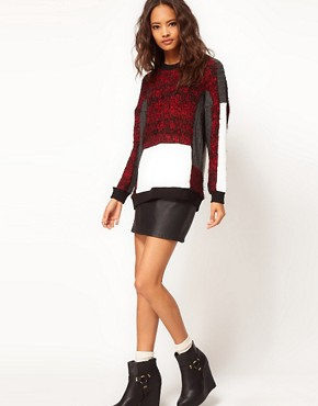Image 4 of ASOS Oversize Jumper with Fluffy Panel