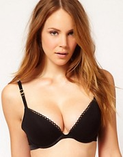 Stella McCartney Stella Smooth Black Plunge Bra
