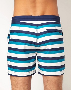 Image 2 ofASOS Stripe Swim Shorts