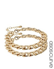 ASOS CURVE Pack of Two Chain Bracelets