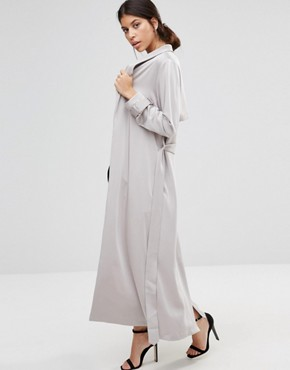 True Decadence Satin Duster Coat