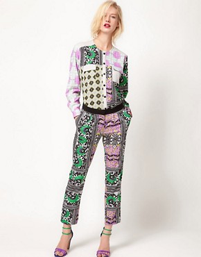 Image 4 ofASOS AFRICA Collarless Shirt In Geo Print