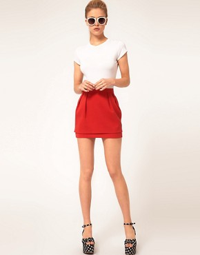 Image 1 ofASOS Mini Skirt With Tier