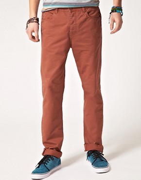 Image 2 ofASOS Slim Chino with Contrast Aztec Pocket
