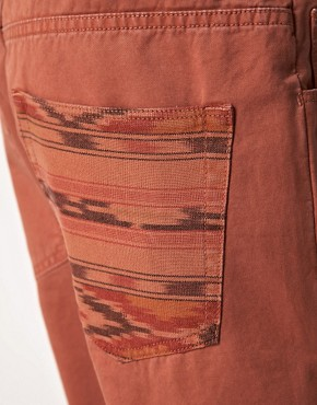 Image 3 ofASOS Slim Chino with Contrast Aztec Pocket