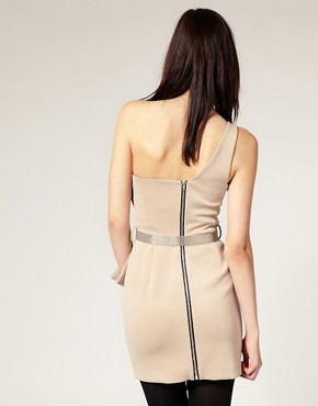 Image 2 ofRiver Island Origami One Shoulder Dress