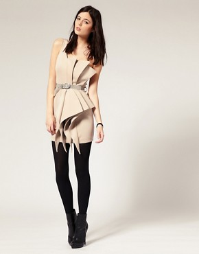 Image 4 ofRiver Island Origami One Shoulder Dress