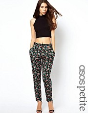 ASOS PETITE Exclusive Peg Pants In Floral Print