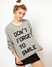 Ashish Exclusive to ASOS Dont Forget To Smile Sweatshirt