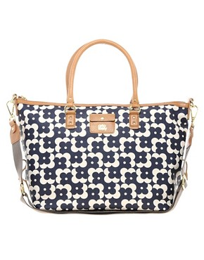 Image 1 ofOrla Kiely Tilly Large Shopper Flower Dot Bag
