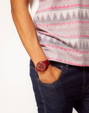 Image 2 ofASOS Fluro Stitch Watch